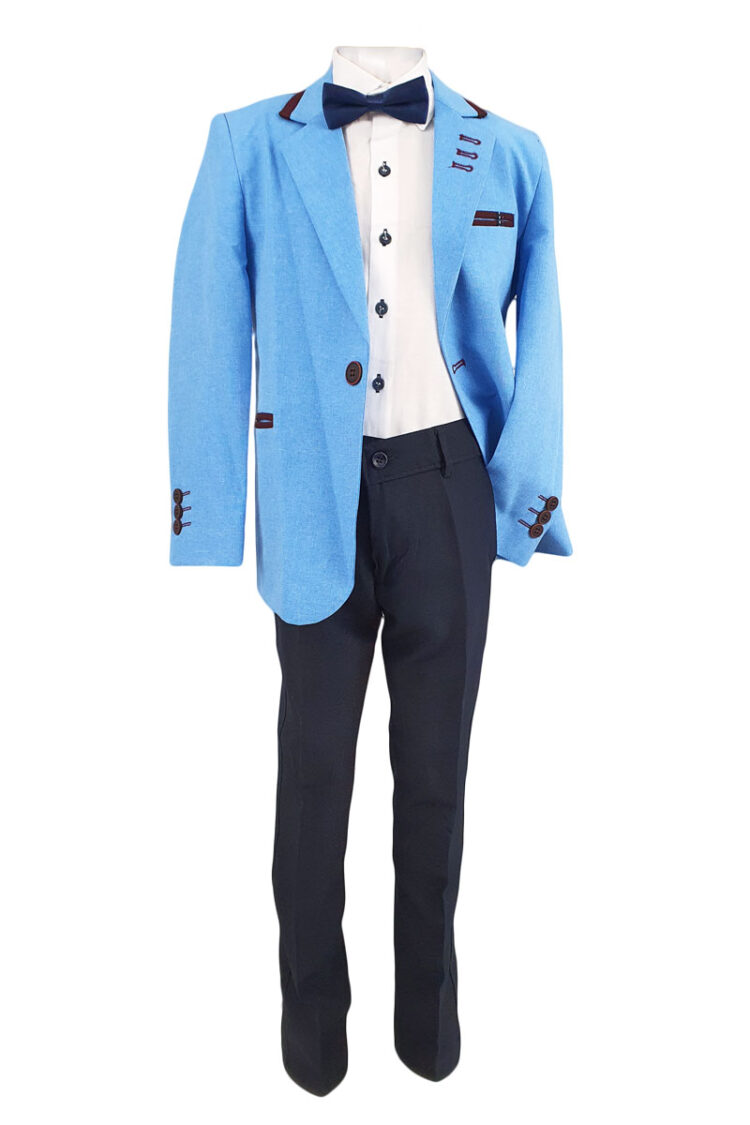 Costum elegant-casual Mircea, culoare crem
