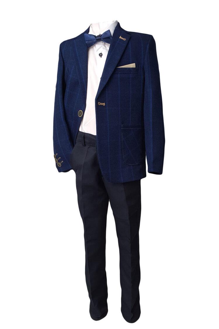 Costum Joy, culoare gri-bleu, pentru nunti si petreceri