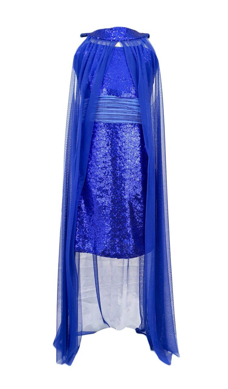 Rochie doua piese model Antonia culoare albastra