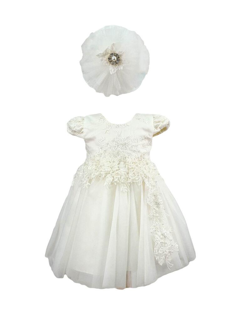 Rochie eleganta pentru fetite, culoare alba