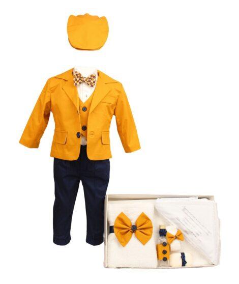 set-botez-baby-boss-doua-piese-galben-mustar-bleumarin-1.jpg