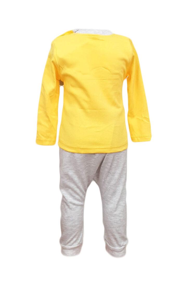 Compleu doua piese, pentru copii, culoare galben-crem