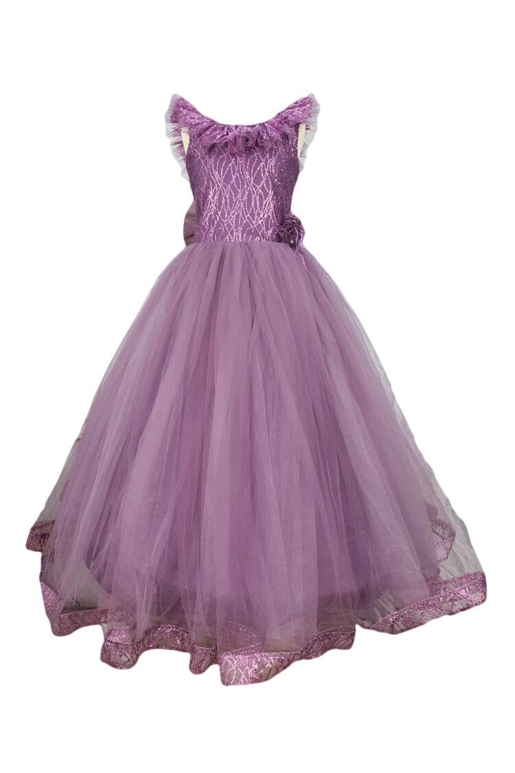 Rochie eleganta pentru fetite culoare mov