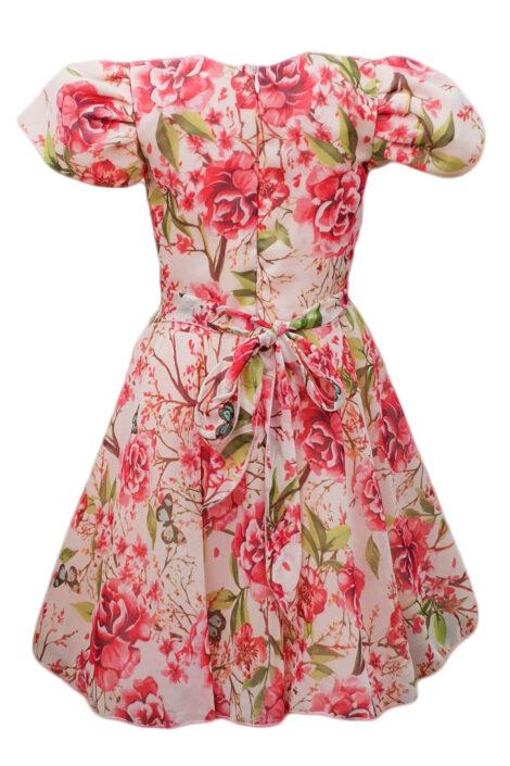 Rochie casual-eleganta multicolora pentru fetite