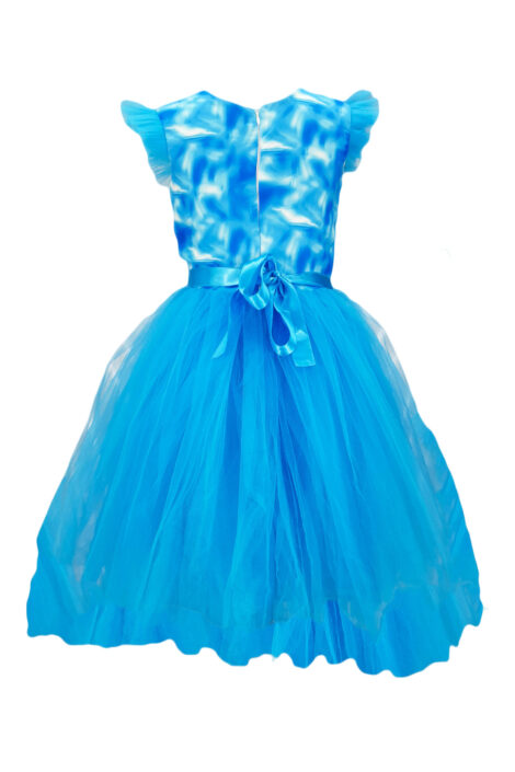 Rochie casual-eleganta model Roze, culoare albastra