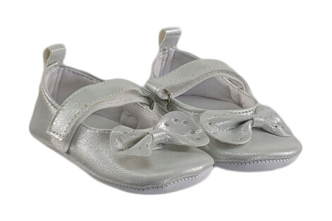 Botosei botez fete culoare argintie